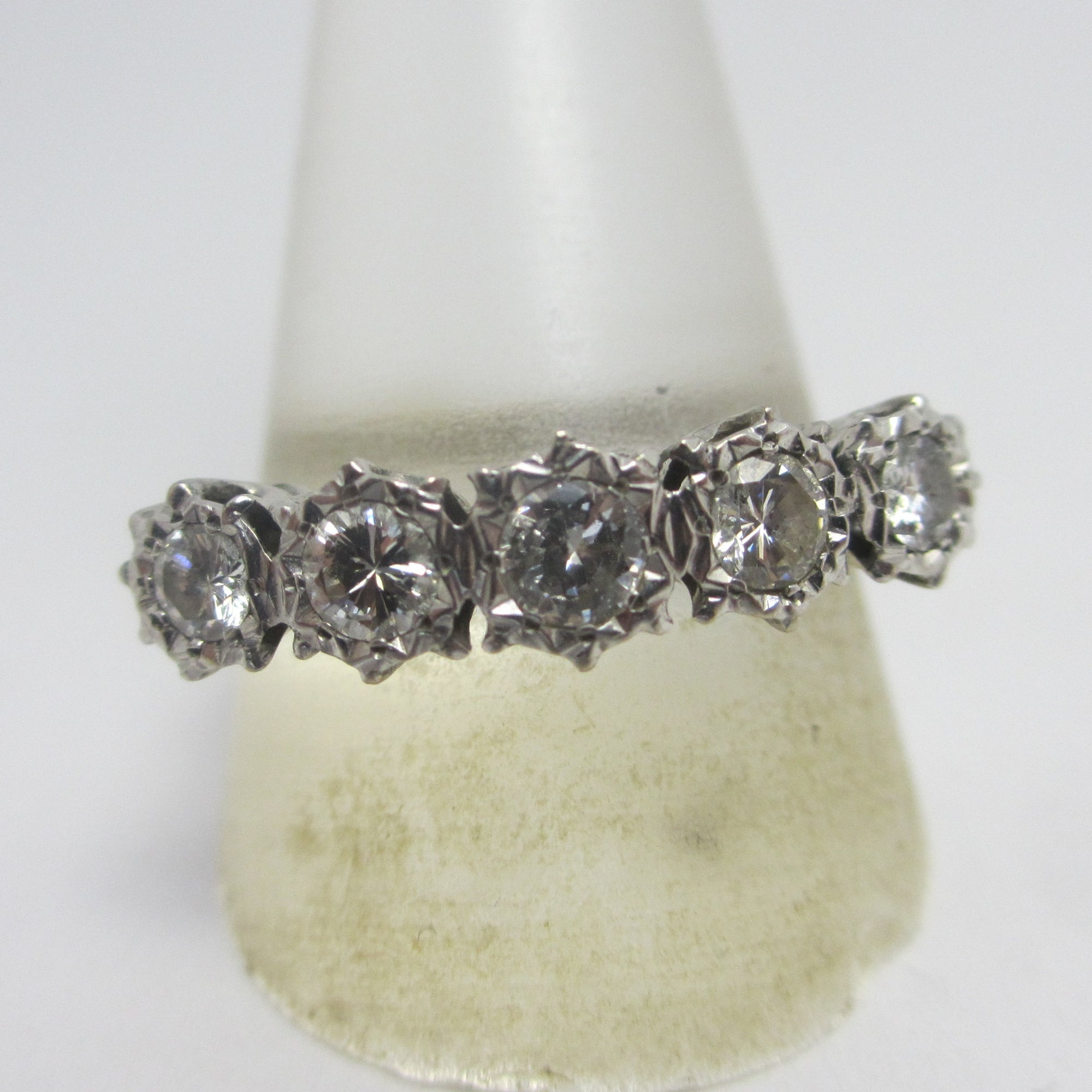 1.8ct Diamond 18k White Gold Ring Antique Edwardian c1910