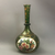 Bohemian Green Glass Gilded Flower Decoration Vase Victorian Antique c1900