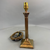 Brass Column Lamp Art Deco C 1950