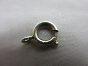 Sterling silver bolt ring clasp 0.8cm diameter vintage Art Deco c1920.