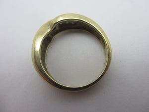 0.25cts Diamond in 9k Gold Ring Vintage c1980