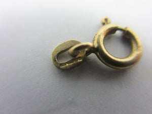 Bolt Ring Clasp Findings 9k Gold 0.8cm Diameter Vintage English