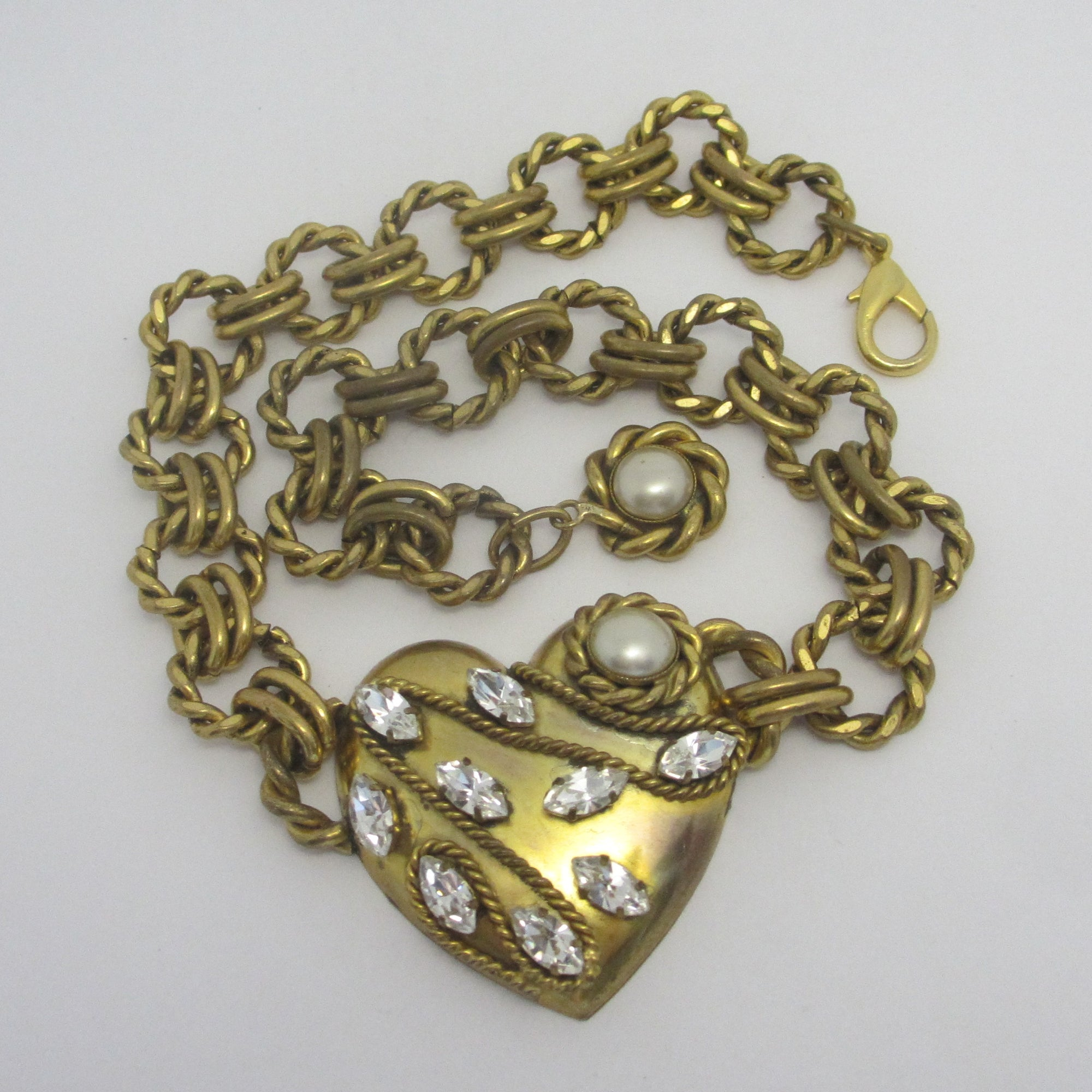 Heart Pendant Necklace by Butler & Wilson Vintage c1980