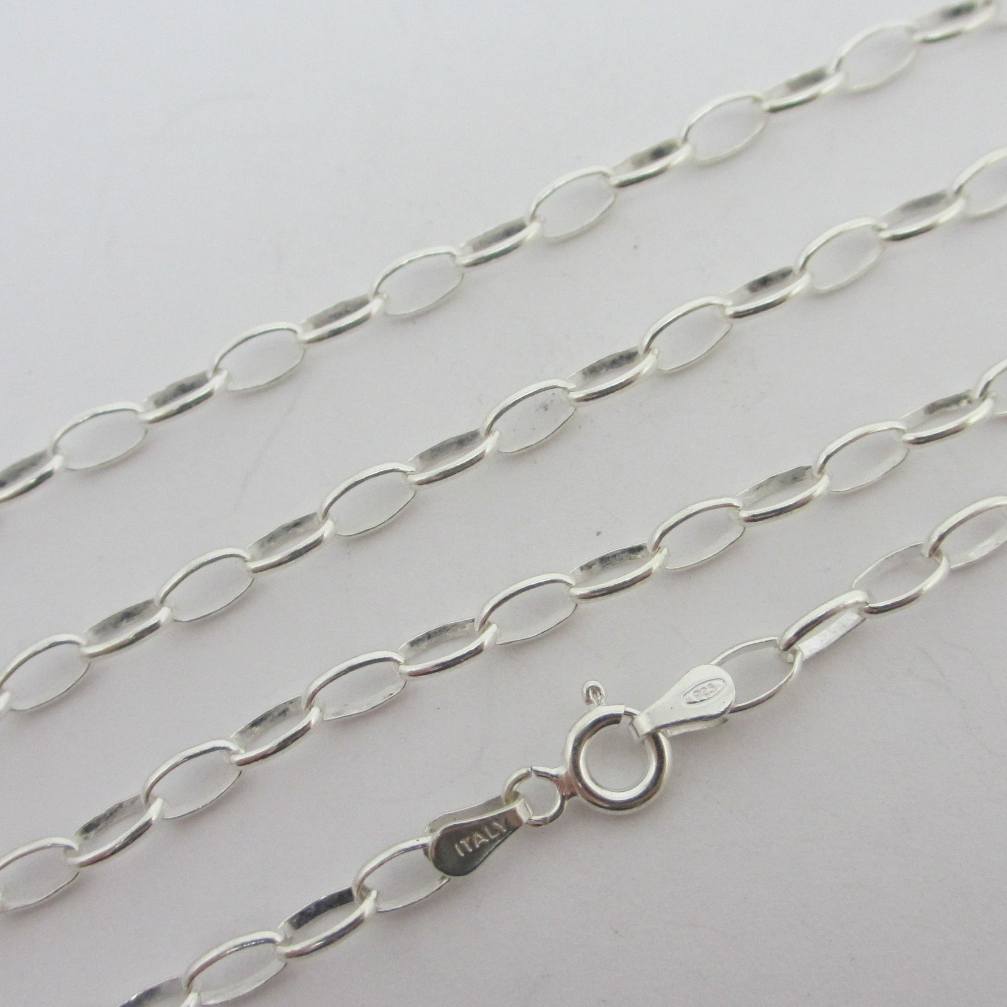 "Cable Link Sterling Silver Chain Necklace 55.4 cm / 21.8"" Vintage c1980"