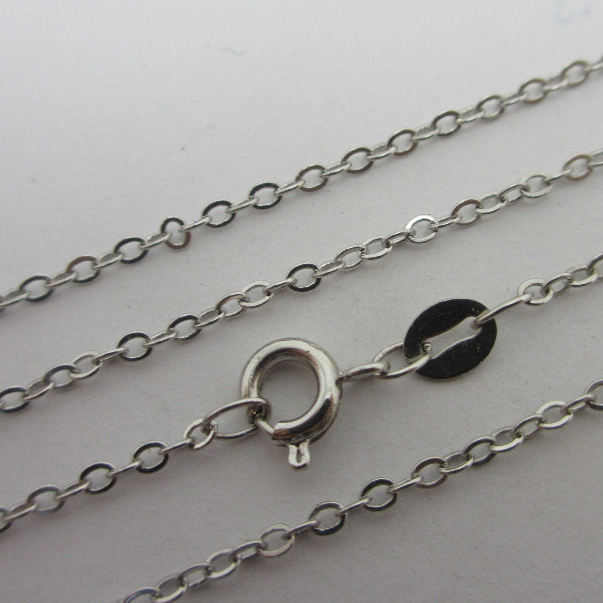 "Sterling Silver Cable Link Chain Necklace 61.3cm/24.1"" Vintage c1980"