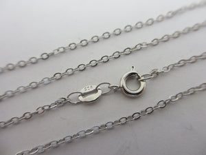 "Sterling Silver Chain Necklace 45.0cm / 17.7"" Vintage c1980."