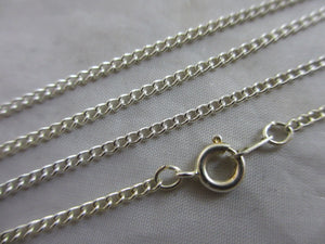 "Sterling Silver Chain Link Necklace 45.5 cm / 17.9"" Vintage c1980."