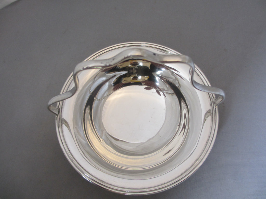 Sterling Silver Bon Bon Dish Antique Edwardian Sheffield 1918.