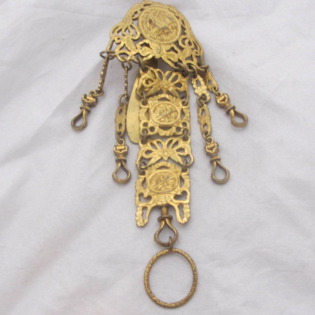 French Brass Chatelaine 19th Century.