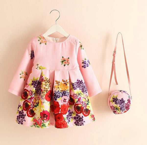 Girl 3pcs Rose Dress Set - PinkieyLu