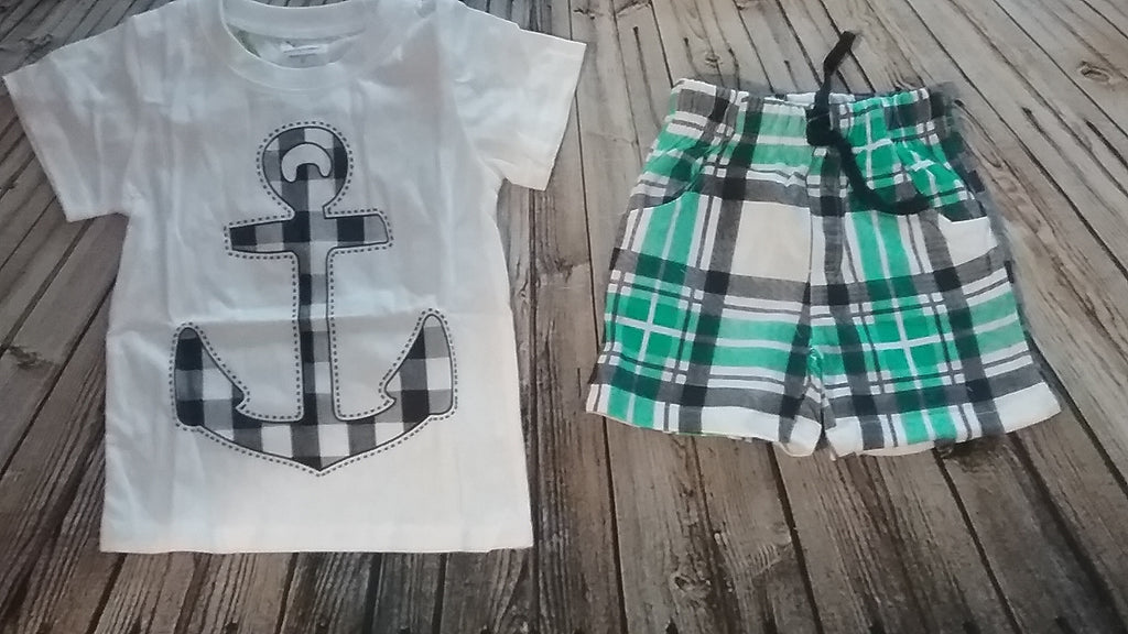 Boys Anchor Short Set