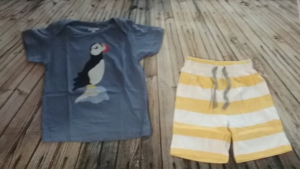 Boys Parrot Short Set