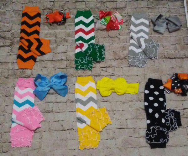 Legwarmer w/matching bow Bundle of 6