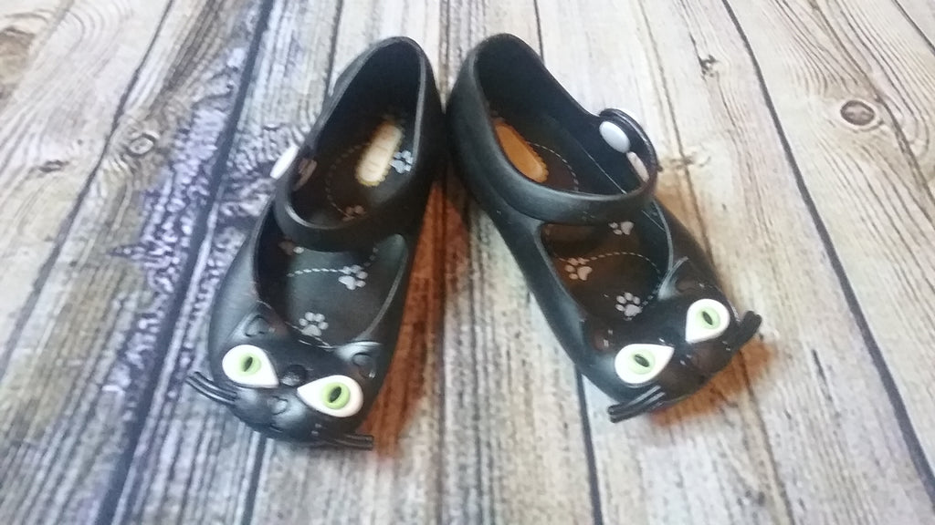 Melissa Mini Black Cat Shoes