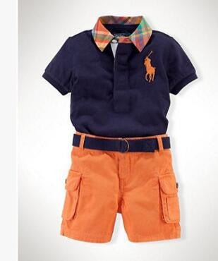 Boys Polo Style Short Outfit - PinkieyLu