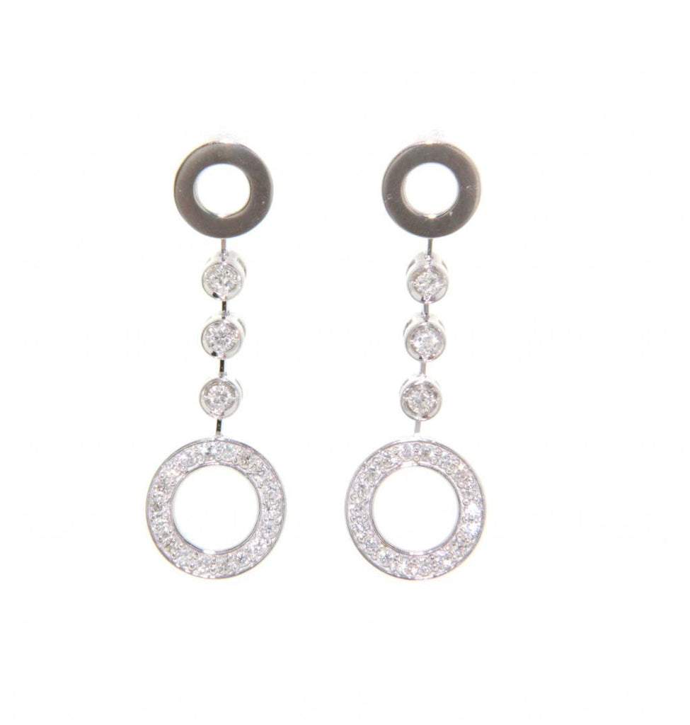 18ct white gold diamond circle earrings