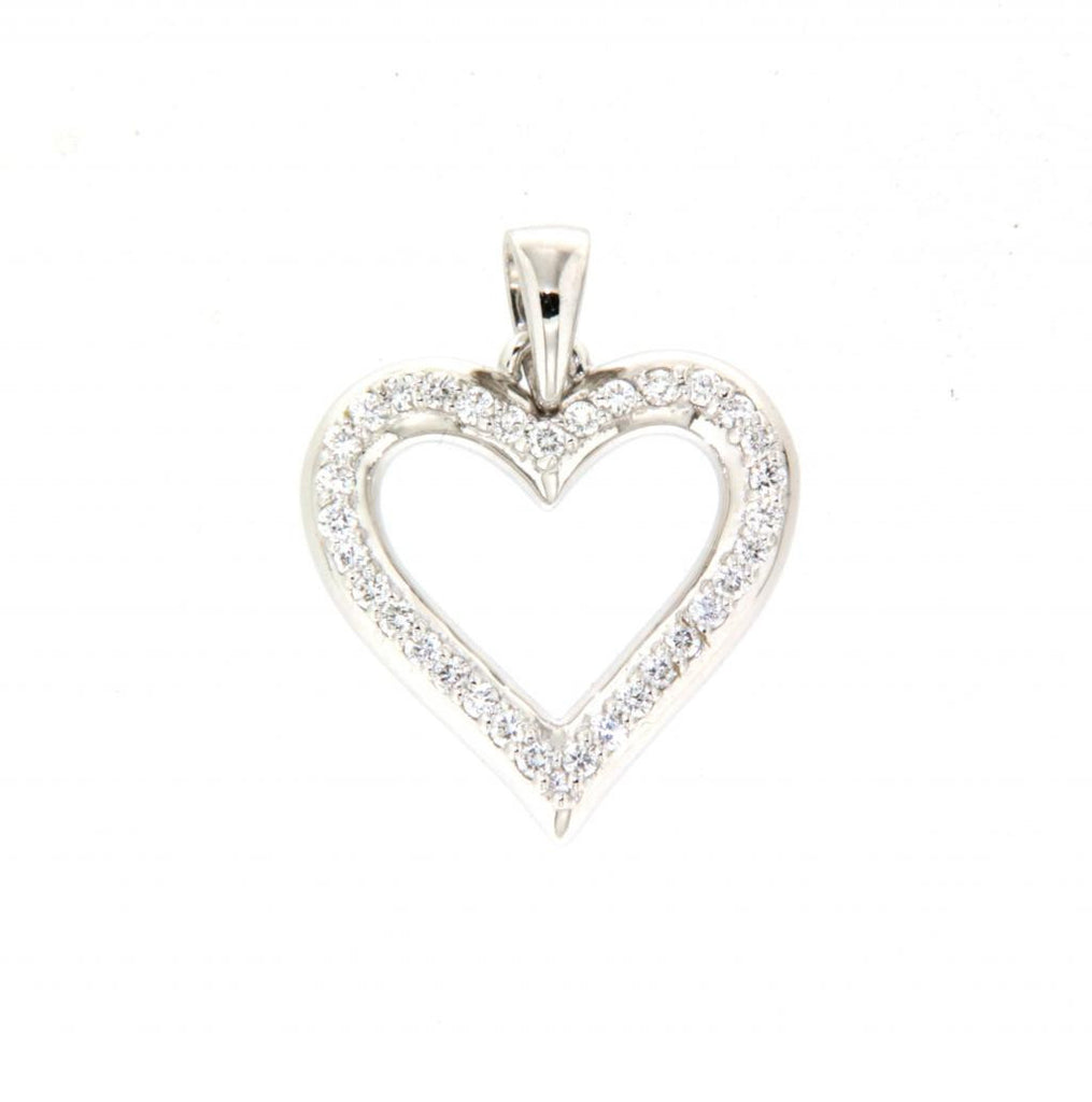 9ct white gold diamond heart pendant millroy jewellers 9ct white gold diamond heart pendant aloadofball Choice Image