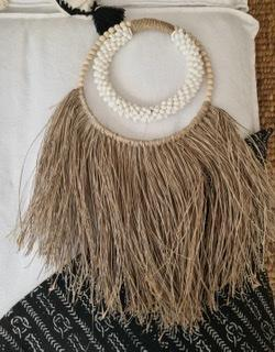 White Shell and Bead Seagrass Hanging