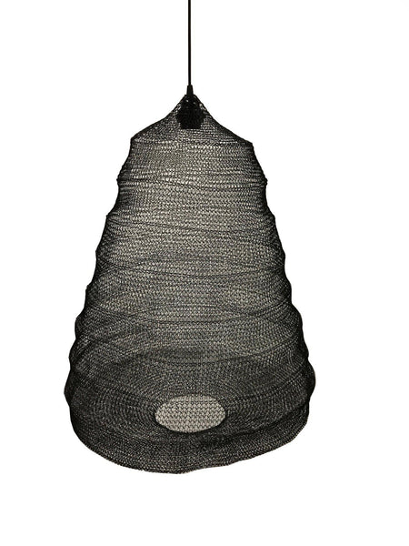 Black Handwoven Wire lampshade - Blu Peter