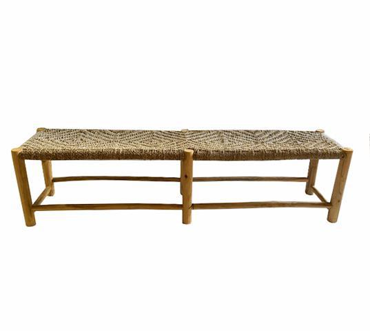 Woven Large Bench-White -120cm - Blu Peter