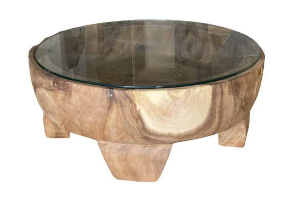 Tub coffee Table with Glass