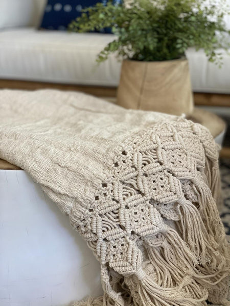 Macrame Throw/Blanket