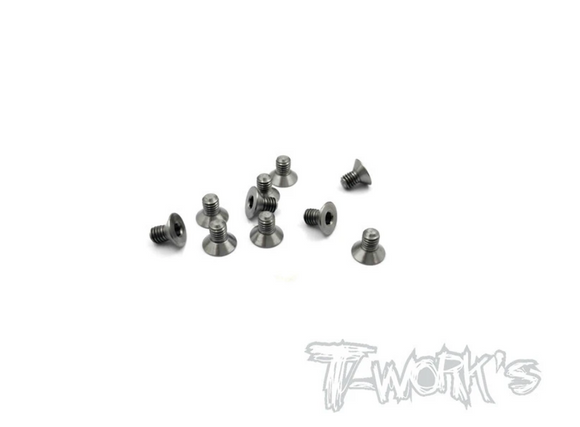 TITANIUM COUNTERSUNK SCREWS (10PCS)