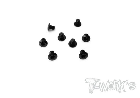 ALUMINUM BUTTON HEAD LCG SCREWS (8PCS) BLACK