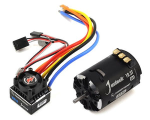 XR10 JUSTOCK SENSORED BRUSHLESS ESC/SD 2.1 MOTOR COMBO (10.5T)