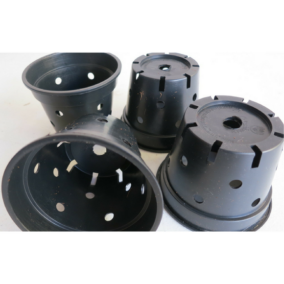 POT - 90mm  - SQUAT ADDITIONAL DRAINAGE............Pack of 10 Pots
