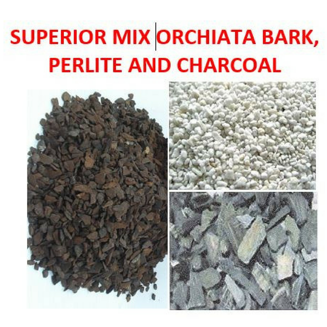 BARK, PERLITE AND CHARCOAL ............Available in 10 Litre Bags #