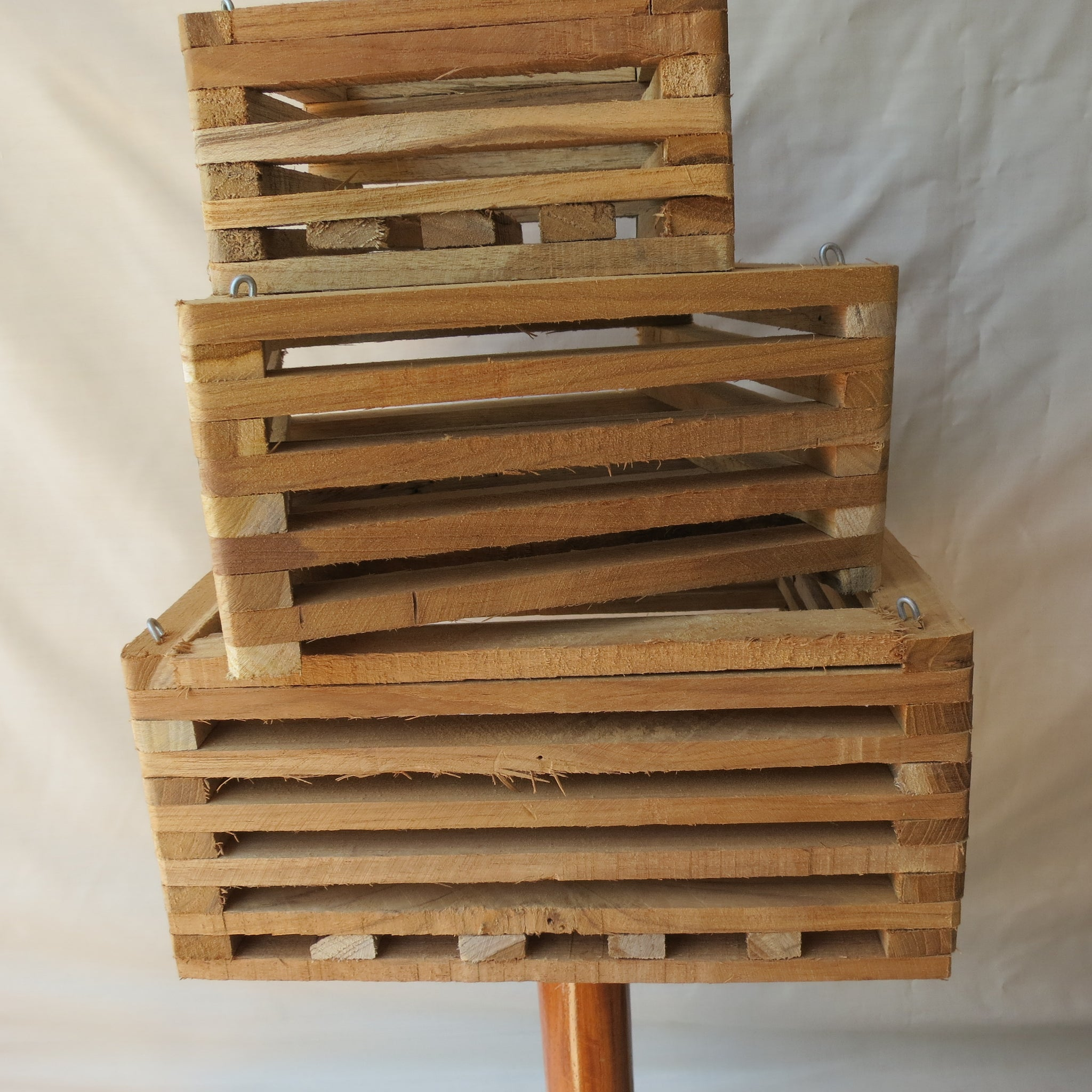 Wooden Vanda Basket 200mm X 200mm