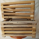 200mm x 200mm Wooden Basket