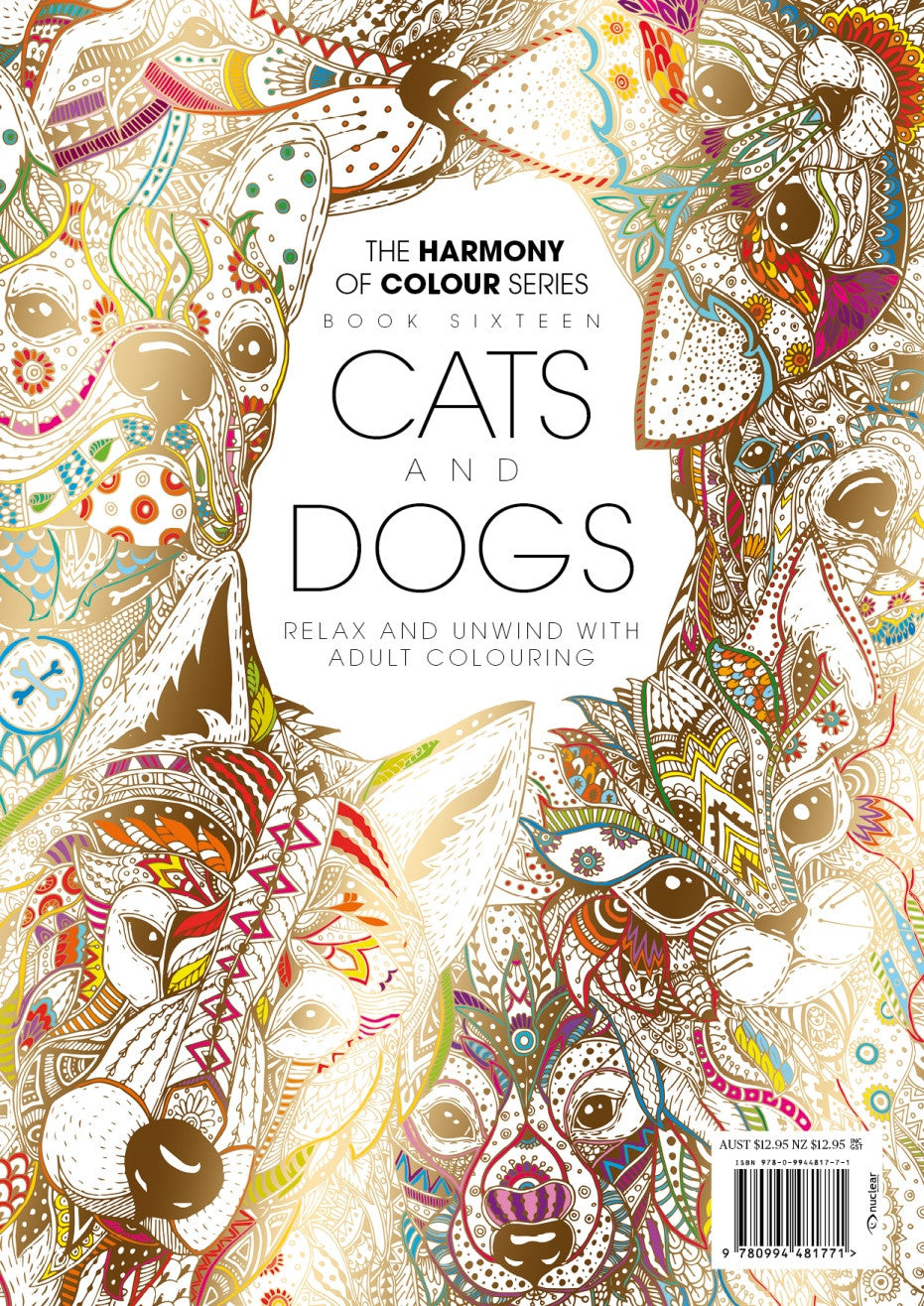 Harmony Of Colour Book Sixteen Cats And Dogs PRINT EDITION SOLD OUT