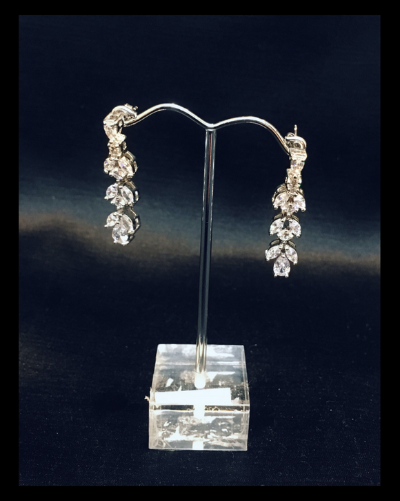 Three tier crystal drop earrings