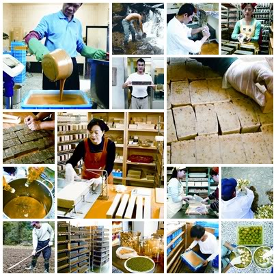Various Steps in Yuan Soap Making