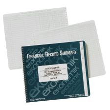 "Ekonomik Standard Size Check Registry - 40 Sheet(s) - Wire Bound - 10"" x 8 3/4"" Sheet Size - White Sheet(s) - Green Print Color - Recycled - 1 Each"