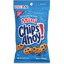 Chips Ahoy! Mini Chocolate Chip Cookies - Chocolate Chip - 3 - 12 / Carton