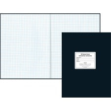 "Rediform Quad Ruled Laboratory Notebook - 60 Sheets - 8 1/2"" x 11"" - White Paper - Black Cover - Hard Cover, Heavyweight - Recycled - 1Each"