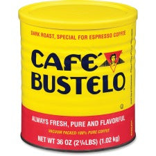 Café Bustelo® Espresso Ground Coffee - Regular - Espresso - Dark - 36 oz Per Can - 1 Each