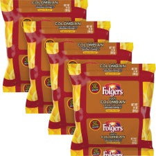 Folgers® Colombian Ground Coffee Filter Packs Ground - Regular - Colombian - Bold - 1.4 oz - 40 / Carton
