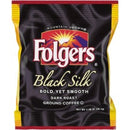Folgers® Black Silk Ground Coffee Fraction Pack Ground - Regular - Black Silk - Dark/Bold/Smooth - 1.4 oz - 42 / Carton
