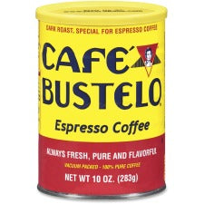 Café Bustelo® Espresso Blend Coffee - Regular - Espresso - Dark/Bold - 10 oz Per Can - 1 Each