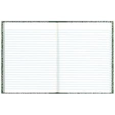 "Rediform Center Sewn Lab Notebook - 96 Sheets - Sewn - 7 1/8"" x 10 1/8"" - White Paper - Green Cover Marble - Recycled - 1Each"