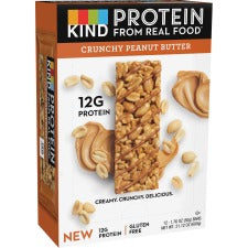 KIND Protein Bars - Trans Fat Free, Low Sodium, Gluten-free, Individually Wrapped - Crunchy Peanut Butter - 1.76 oz - 12 / Box