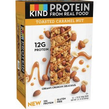 KIND Protein Bars - Trans Fat Free, Low Sodium, Gluten-free, Individually Wrapped - Toasted Caramel Nut - 1.76 oz - 12 / Box