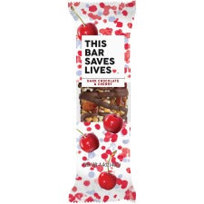 This Bar Saves Lives Dark Chocolate & Cherry Snack - Gluten-free, Non-GMO, Low Sugar, High-fiber - Dark Chocolate & Cherry - Box - 1.40 oz - 12 / Box