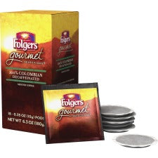 Folgers® Gourmet Selections Colombian Decaf Coffee Pod - Decaffeinated - Colombian - 0.4 oz - 18 Pod - 18 / Box
