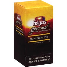Folgers® Gourmet Selections Med Roast Coffee Pods Pod - Regular - Morning Blend - Medium - 0.4 oz - 18 / Box