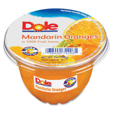 Dole Mandarin Oranges Fruit Cups - Mandarin Orange - 5 lb - 12 / Carton